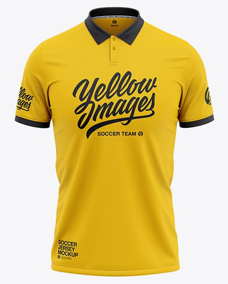 Download Men's Soccer Jersey Mockup - Front View in Apparel Mockups ...