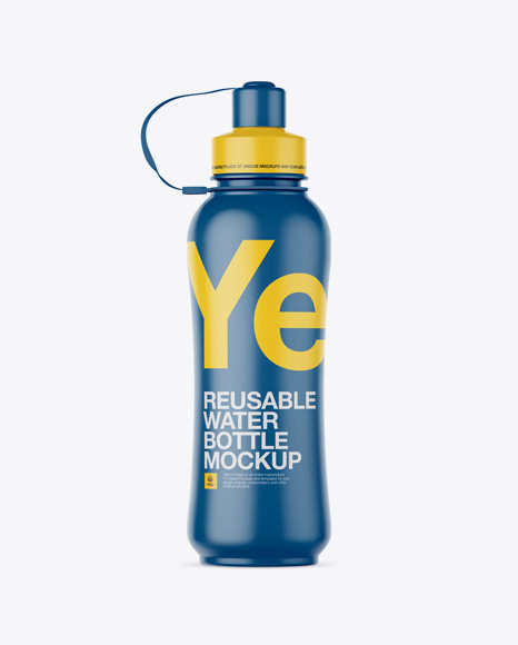 Download Gym Water Bottle Mockup Yellowimages