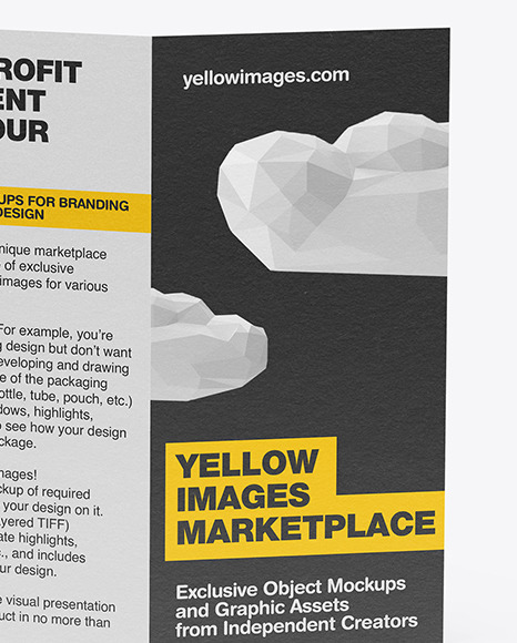 Download Download Mockup Flyer Psd Yellow Images