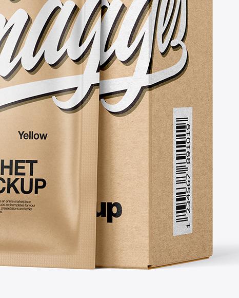 Download Kraft Box Kraft Sachets Psd Mockup Yellowimages