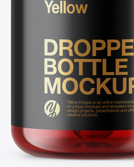 Download 50ml Red Glass Dropper Bottle Yellowimages
