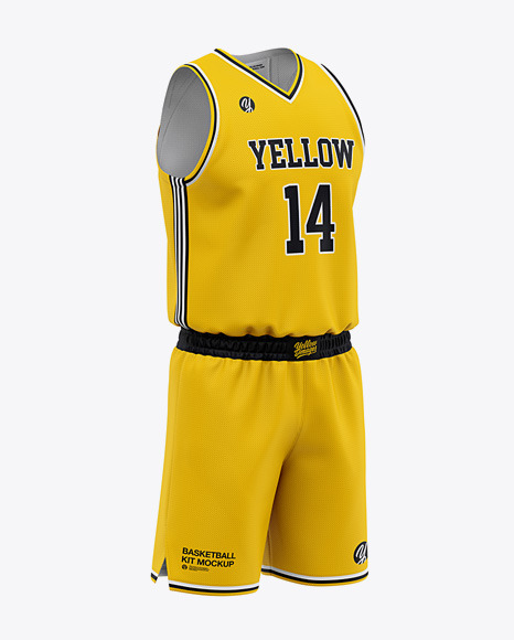 Download Mens Basketball Kit Mockup Front Half Side View (PSD ...