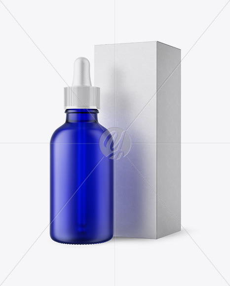 Download 5ml Frosted Blue Glass Dropper Bottle Yellowimages