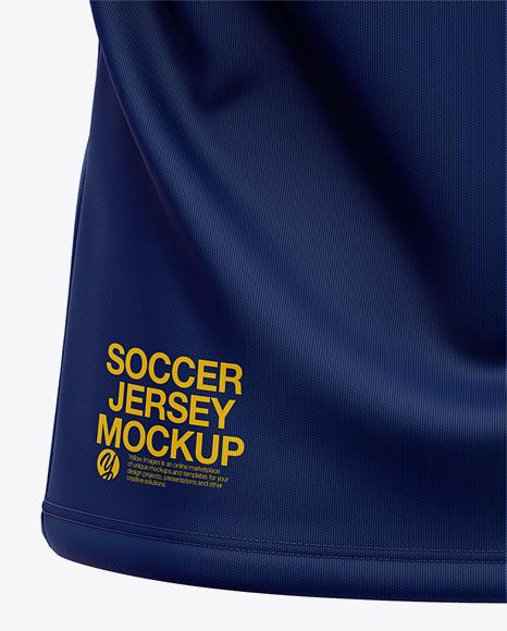 Download Men's Soccer Jersey / Cricket Jersey Mockup - Back View of ...
