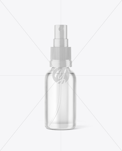 Download Clear Glass Spray Bottle With Oil Psd Mockup Yellowimages