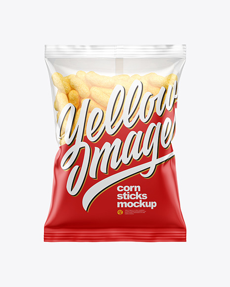 Download Bag With Corn Sticks Psd Mockup Yellowimages