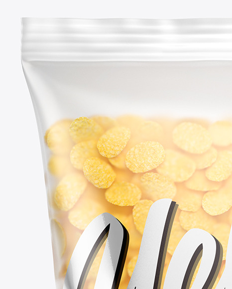 Download Matte Bag With Corn Flakes Psd Mockup Yellowimages
