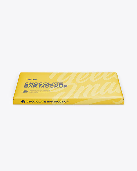 Download Paper Chocolate Bar Psd Mockup Front View High Angle Shot Yellowimages