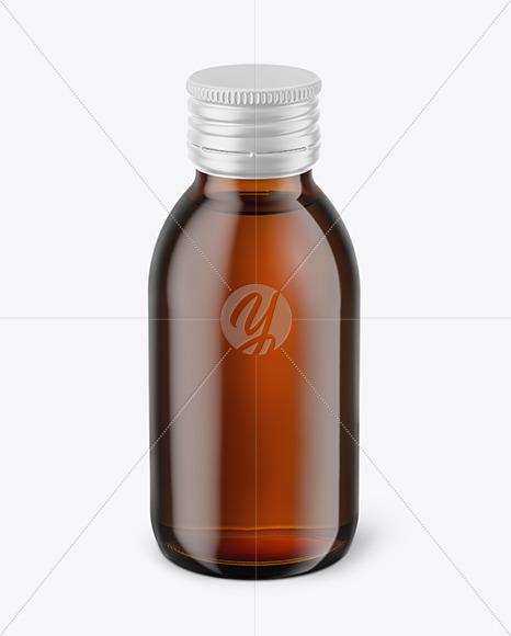Download 100ml Amber Glass Jam Jar Clamp Lid Mockup Halfside View Yellowimages