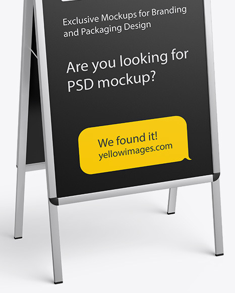 Download Roller Banner Psd Mockup Yellowimages