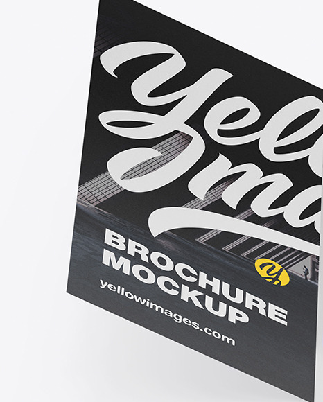 Download Free Psd Mockup Brochure Yellow Images