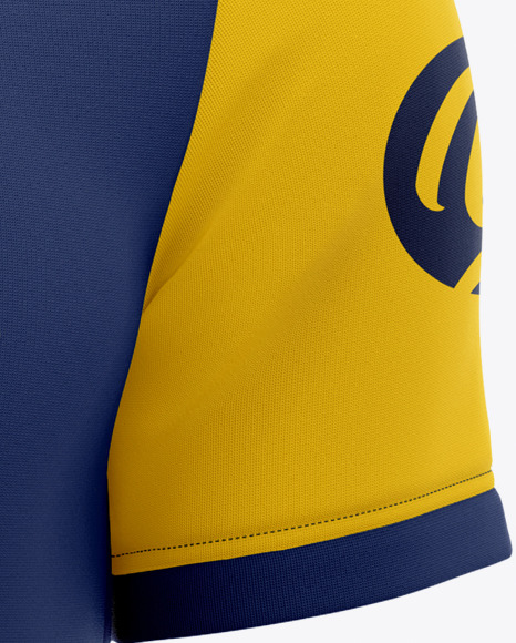 Download Download Mens Full Soccer Kit With Open Collar Mockup ...