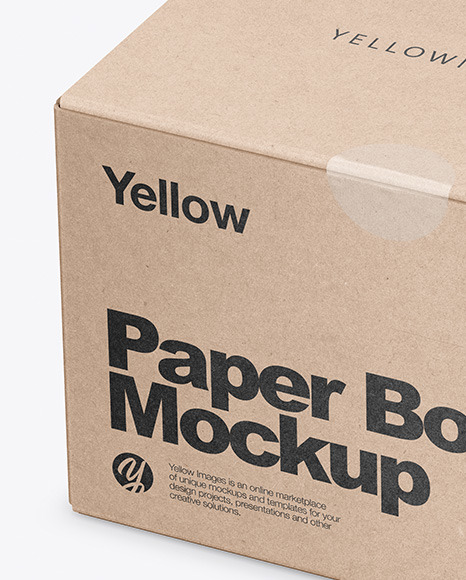 Download Kraft Cake Box Psd Mockup Yellowimages