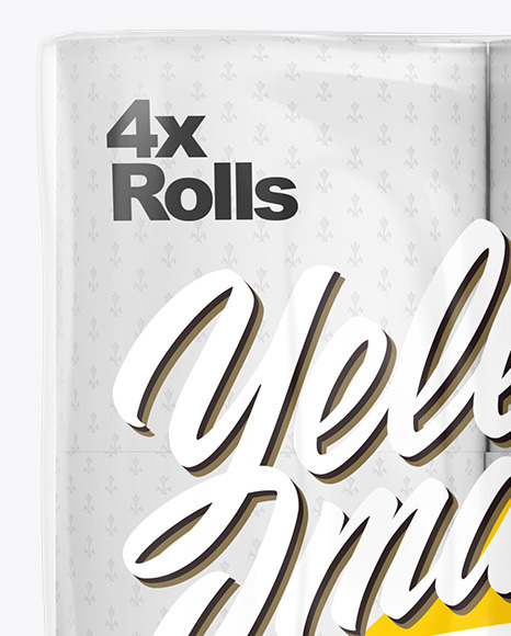 Download Toilet Paper 4 Pack Psd Mockup Yellowimages
