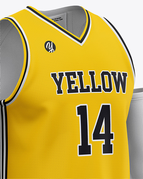 Download Men's Basketball Kit Mockup - Basketball Jersey And Shorts ...