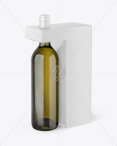 Download Wine Bottle And Box Mockup Yellowimages