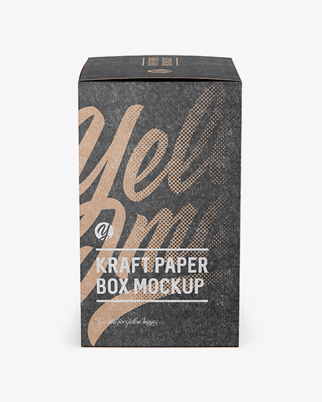 Download Kraft Big Box Psd Mockup Yellowimages