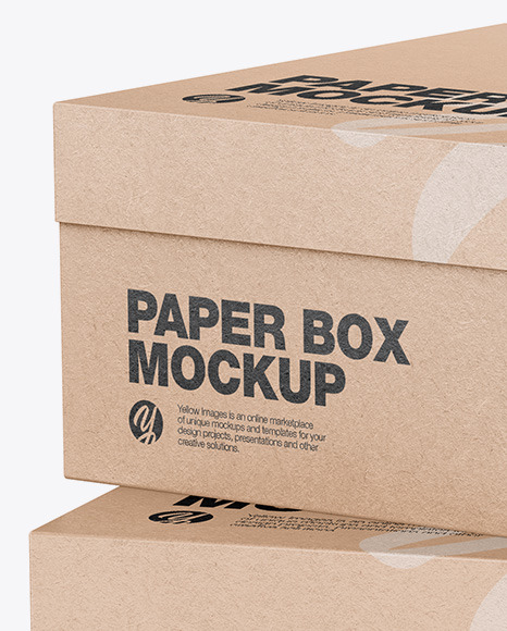 Download Two Carton Packages Psd Mockup Yellowimages