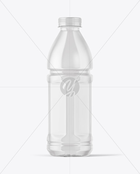 Download Pet Clear Bottle Psd Mockup Yellowimages