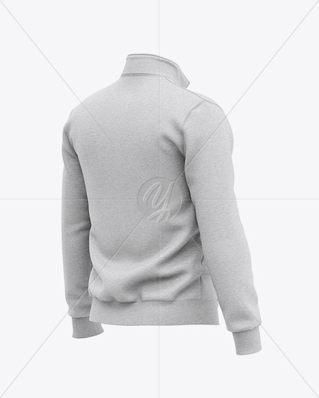 Download Basketball Heather Hoodie Mockup Front Half Side View Of Hooded Jacket Yellowimages