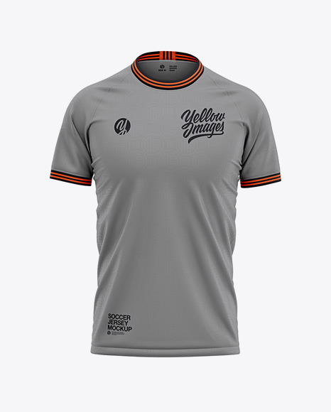 Download Mens Crew Neck Soccer Jersey Mockup Front View (PSD ...