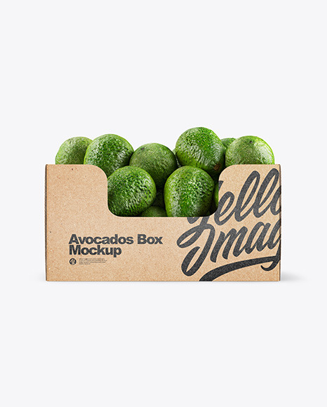 Download Plastic Tray With Avocado Psd Mockup Yellow Images