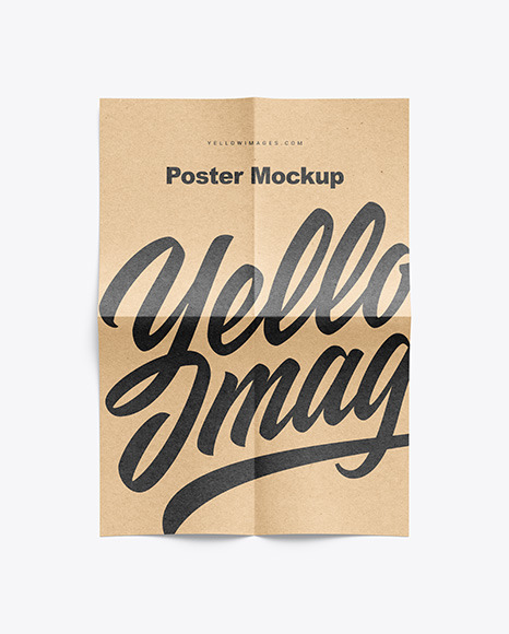 Download A4 Poster Mockup Psd Free Download Yellowimages