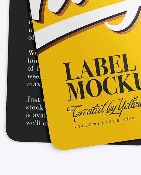 Download T Shirt Label Mockup Psd Yellowimages