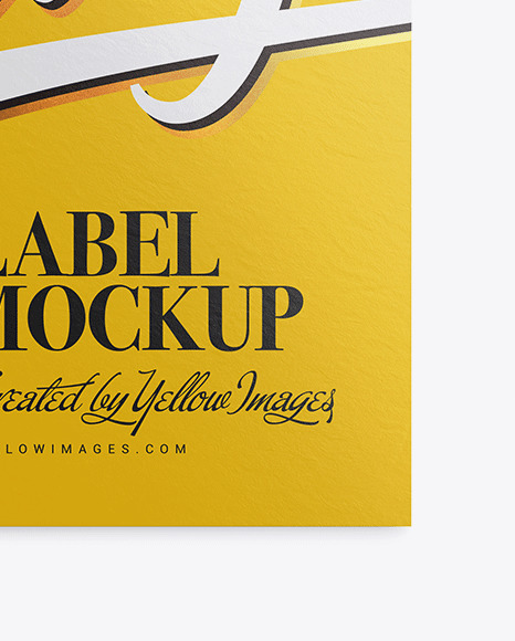 Download Clothing Tag Label Mockup Yellowimages