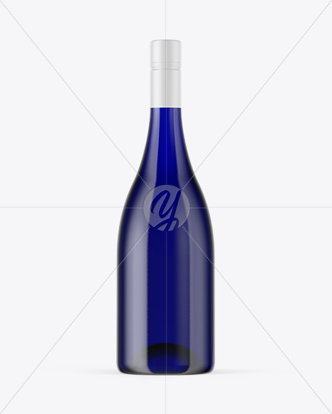Download Blue Glass Bottle Psd Mockup Yellowimages