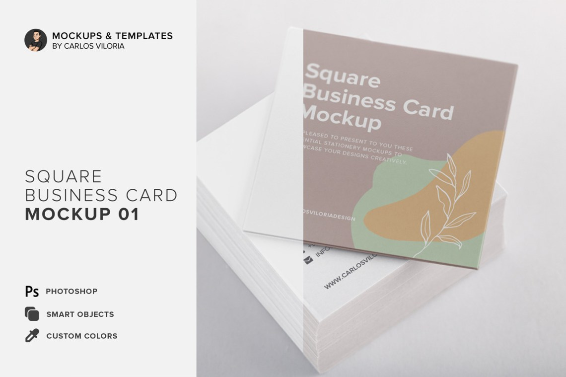 Download Square Invitation Mockup Yellowimages