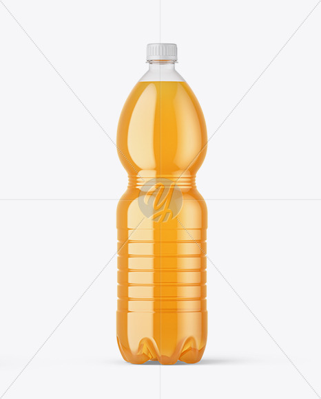 Download Clear Pet Apple Juice Bottle Psd Mockup Yellowimages