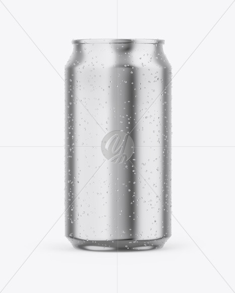 Download Glossy Can With Condensation Psd Mockup Yellowimages