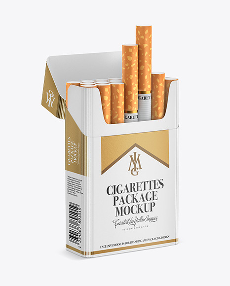 Download Paper Cigarette Pack Mockup in Packaging Mockups on Yellow ...