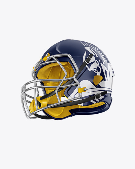 Download American Football Helmet Mockup Halfside View Yellowimages