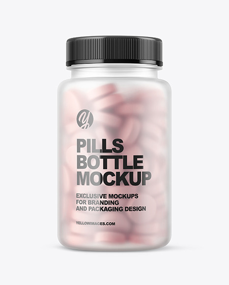 Download Pill Bottle And Box Mockup Yellow Images