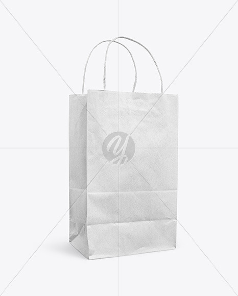 Download Craft Paper Bag Mockup Yellow Images