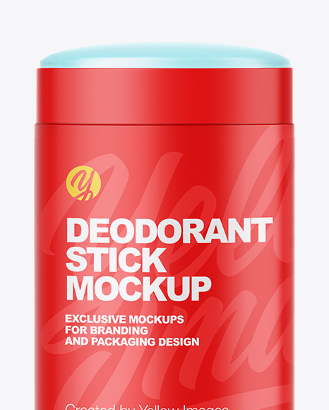 Download Opened Deodorant Psd Mockup Yellow Images