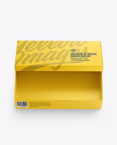 Download Shoe Box Psd Mockup Yellowimages