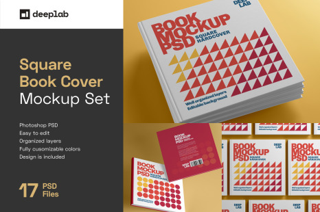 Download Square Booklet Psd Mockup Yellowimages