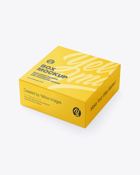 Download Matte Boxes Psd Mockup Yellow Images