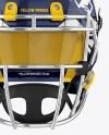 Download American Football Helmet Mockup Back Halfside View Yellow Images