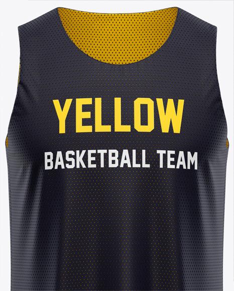 Download 23+ Basketball Reversible Mesh Jersey Mockup Side View ...