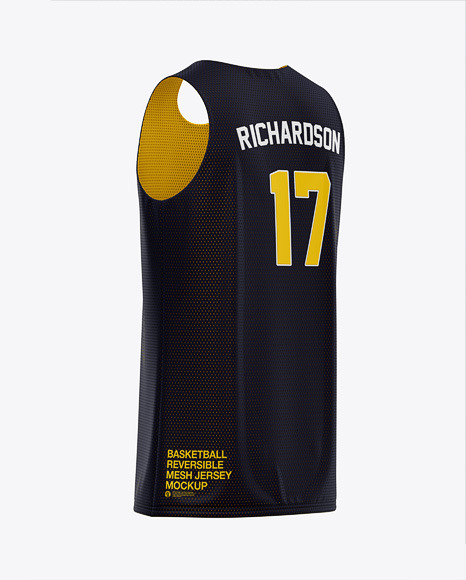 Download Basketball Uniform Mockup Half Side View Yellowimages