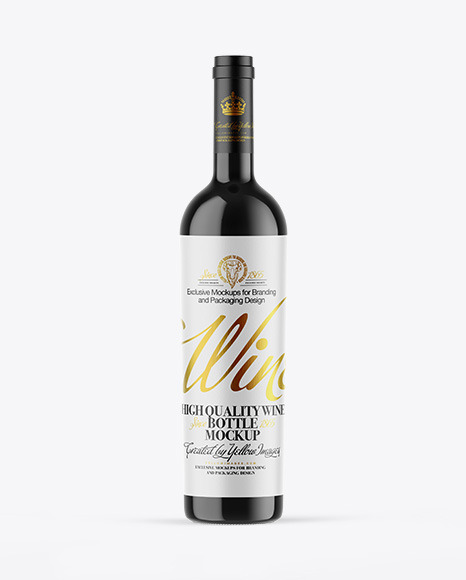 Download Black Wine Bottle Mockup Yellowimages
