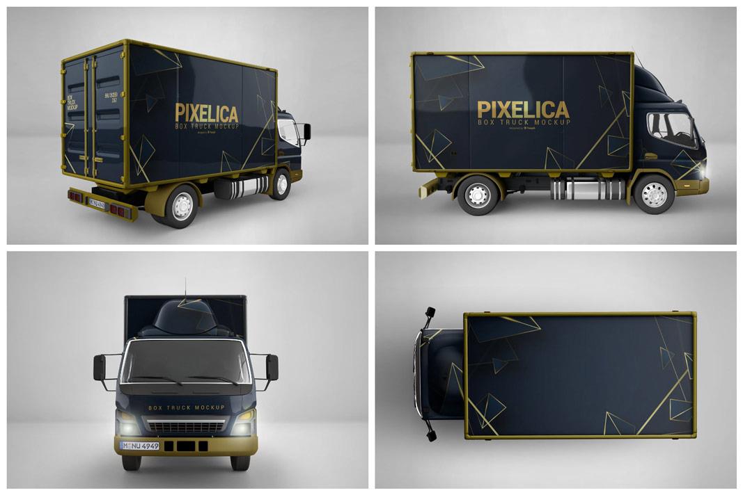 Download Download Box Truck Mockup Branding Mockups - Free PSD ...
