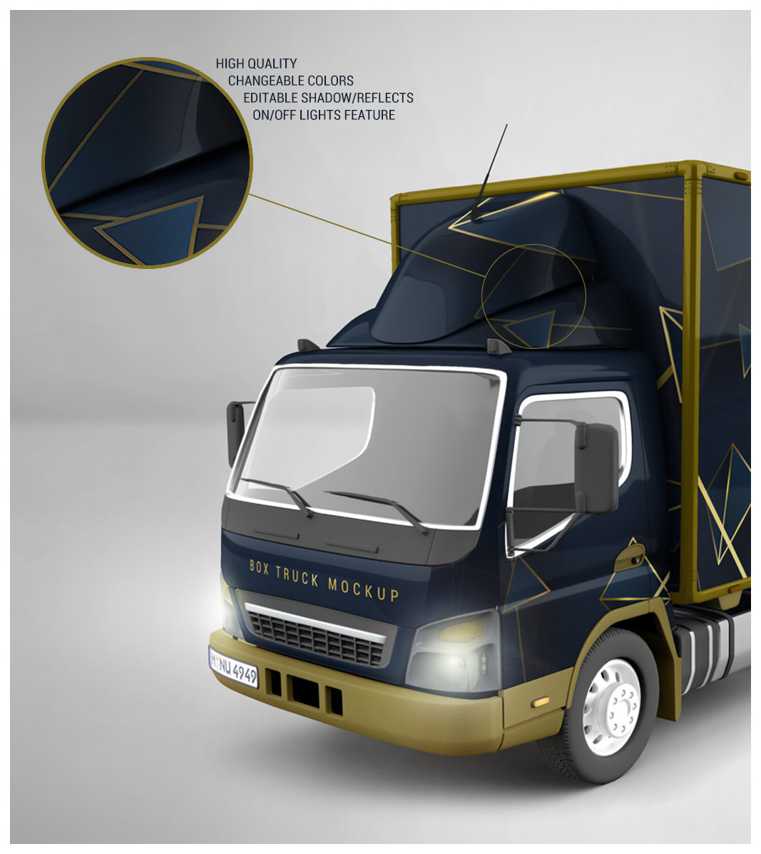 Download Box Truck Mockup Free Yellow Images