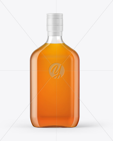 Download Clear Glass Bottle With Wax Psd Mockup Yellow Images