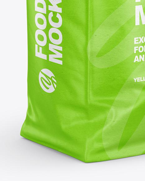 Download Kraft Matte Bag Psd Mockup Half Side View Yellowimages