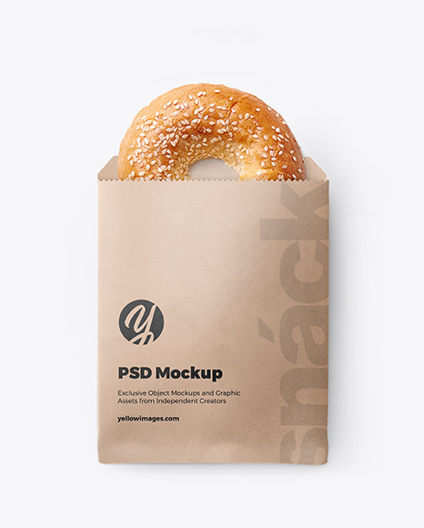 Download Bread Paper Bag Mockup Free Yellow Images